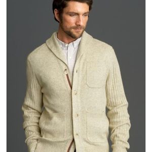 BR Wool Madmen Collection Cream Cardigan